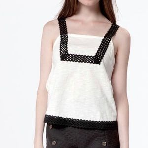 Dressy White and black top